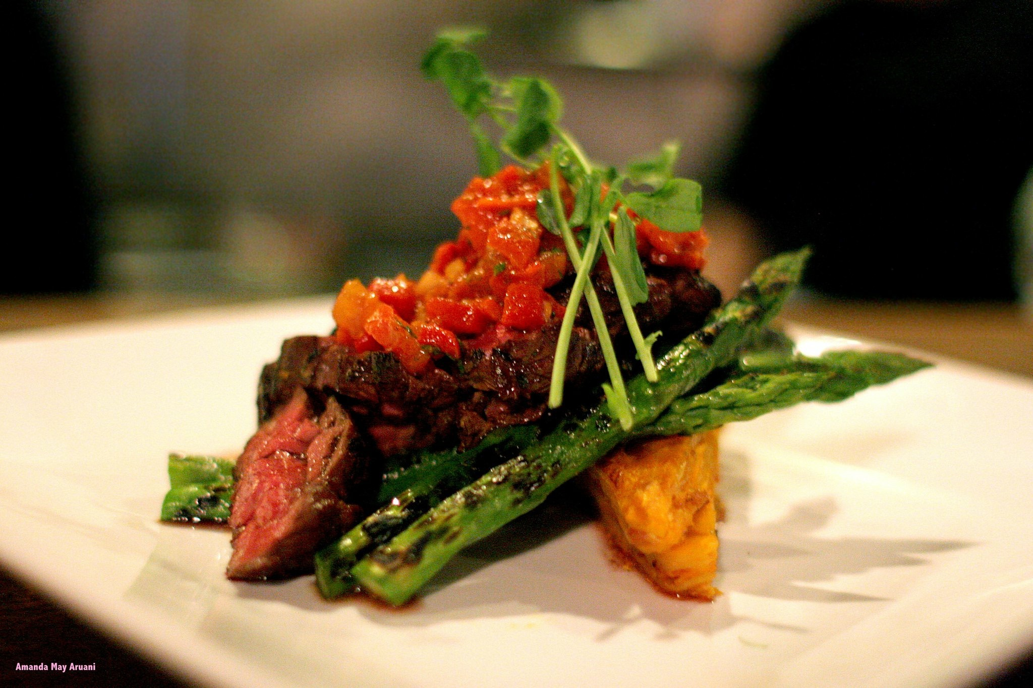 Hanger steak at One Twenty Six