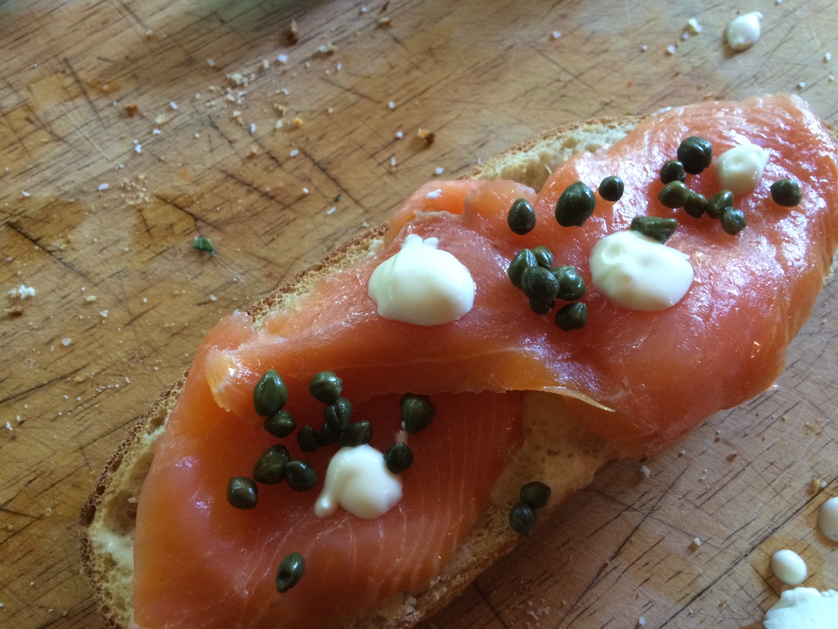 Salmon tartine at Moonrakers